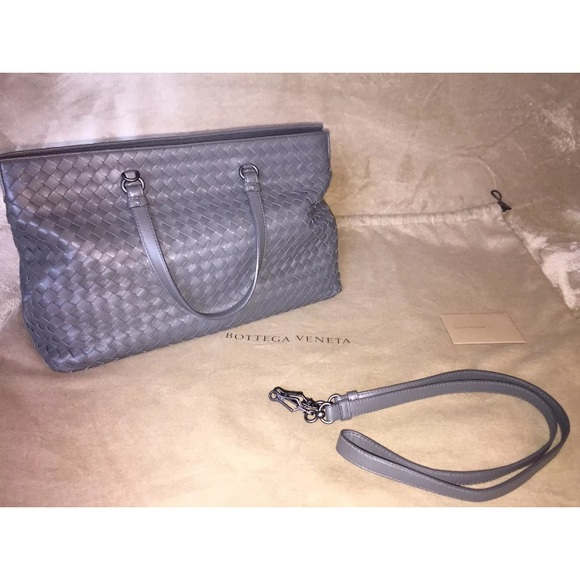 Bottega Veneta Bags   Gray Intreciatto Nappa Bag Tote   Poshmark d7853c4562